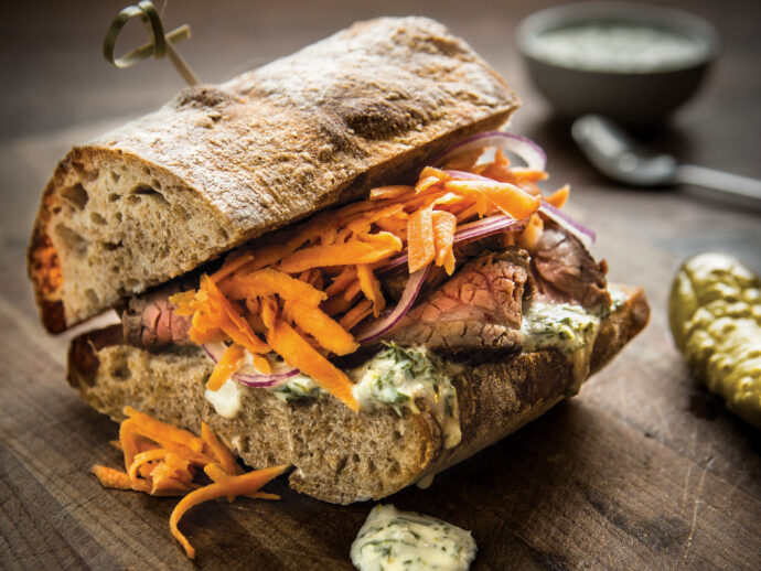 Steak Sandwich with Chimichurri Sauce