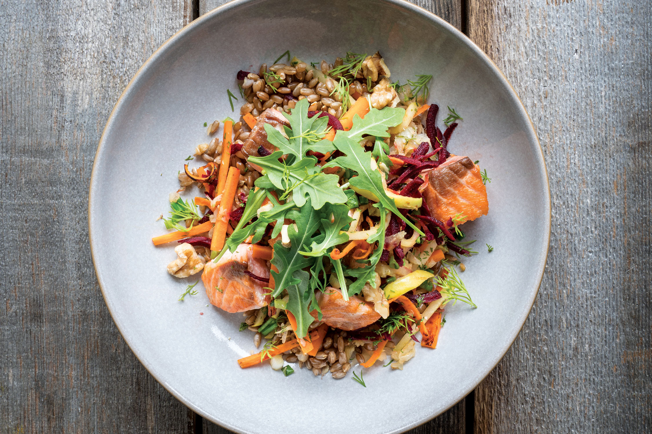 Nordic Char and Rye Stir-Fry