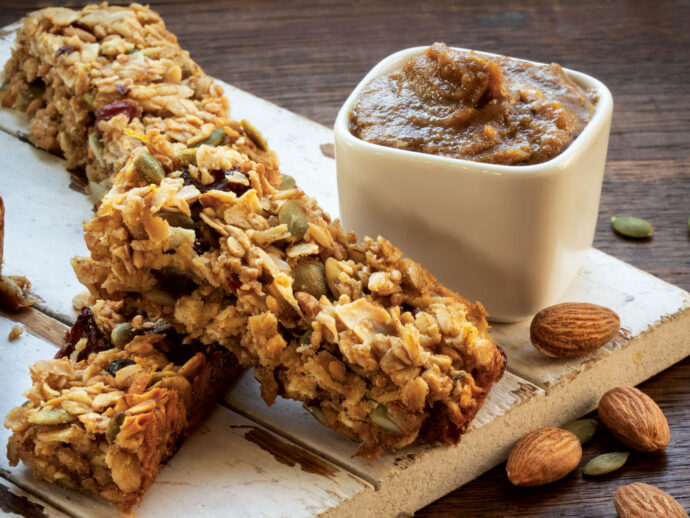 Cardamom, Almond, and Pumpkin Seed Butter /Cranberry and Pumpkin Seed Bars
