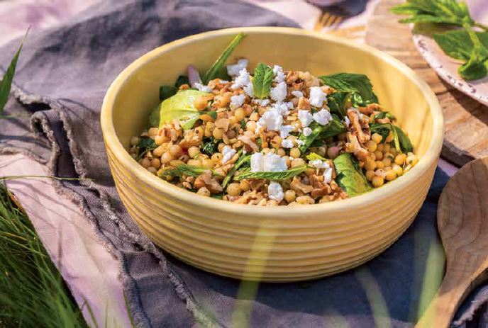 Middle Eastern Couscous and Spinach Salad
