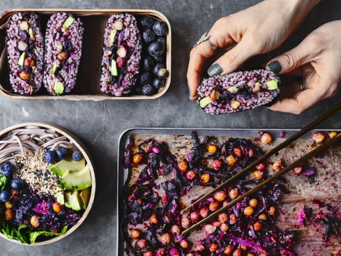 Roast Cabbage Slaw Bento